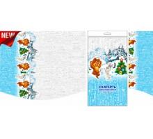 Скатерть новогодняя «Зимовье» ПВД, 120*180см/35 мкм