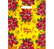 Пакет полиэтиленовый «Новогодний вальс» ПВД 40*31/60 мкр