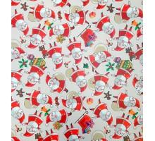 Бумага НГ 1*70 Дизайнерская бумага Дед Мороз 78г/м2 10шт/уп