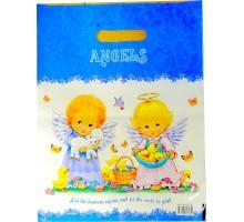 Полиэтиленовый пакет ламинат 31х40 60мкм  «Ангелочки»