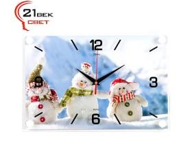 Часы настенные «Снеговики»