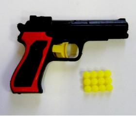 Пистолет детский с пульками 10 см