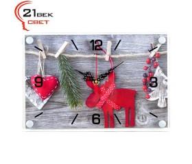Часы настенные «Счастливого Рождества»