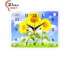 Часы настенные «3 подсолнуха»