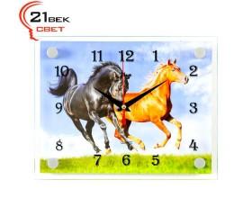 Часы настенные «Кони»