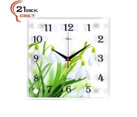 Часы настенные «Подснежники»
