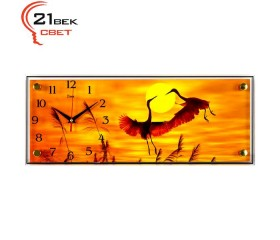 Часы настенные «Танцующие цапли на закате»