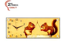 Часы настенные «Белочки-спорщицы»