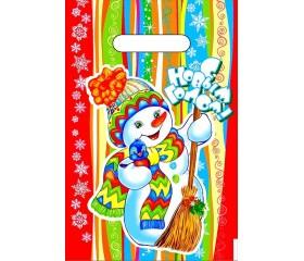 Пакет полиэтиленовый НГ «Разноцветный Новый Год» 20х30 30мкм ПВД