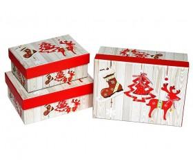 Набор из 3-х коробок «НГ» 16,2*12*6,5 см