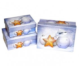 Набор из 3-х коробок «Новый Год» 16,2*12*6,5 см