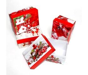 Коробка «Новый Год» прямоугольник 11*7,5*5,5см