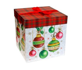 Коробка трансформер «Новогодняя» 10*10*10см