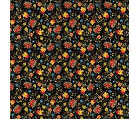 Бумага 1*70 Дизайнерская бумага «Хохлома» 78г/м2