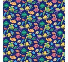 Бумага 1*70 Дизайнерская бумага «Рыбки» 78г/м2