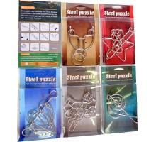 Головоломка сталь Steel в PVC-боксе c европодвесом 10,5 х 12,5 см