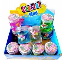 Слайм с ракушками и бусинами «Cristal Mud» 160 гр.