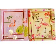 """Блокнот с замком """"Фламинго"""" в подарочной упаковке"""