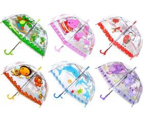 Зонтик детский полуавтомат со свистком «Тачки» D=73 см