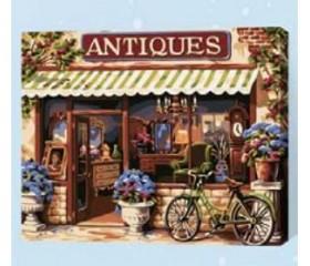 Картина-раскраска по номерам «Антикварный магазин»
