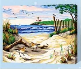 Картина-раскраска по номерам «Песчаные дюны»