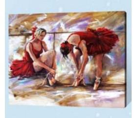 Картина-раскраска по номерам «Балерины»