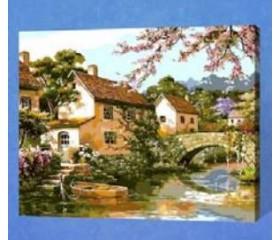 Картина-раскраска по номерам «Тихий уголок»