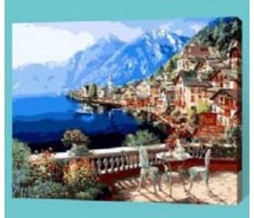 Картина-раскраска по номерам «Вид на залив»