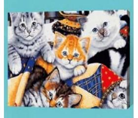 Картина-раскраска по номерам «Котята»