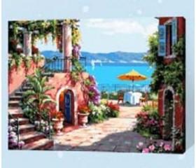 Картина-раскраска по номерам «Выход к морю»