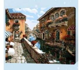 Картина-раскраска по номерам «Венецианский канал»