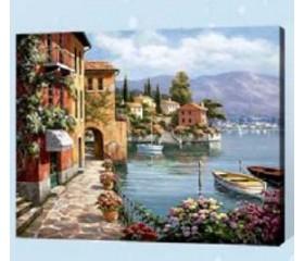 Картина-раскраска по номерам «Морская набережная»