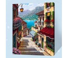 Картина-раскраска по номерам «Лестница к морю»