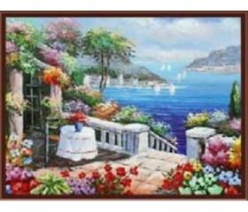 Картина-раскраска по номерам «Райский уголок»