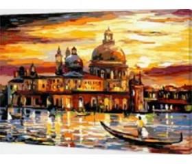 Картина-раскраска по номерам «Закат в Венеции»