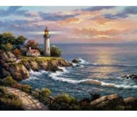 Картина-раскраска по номерам «Путеводный маяк»