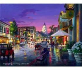 Картина-раскраска по номерам «Ночной проспект»