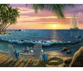 Картина-раскраска по номерам «Закат для двоих»