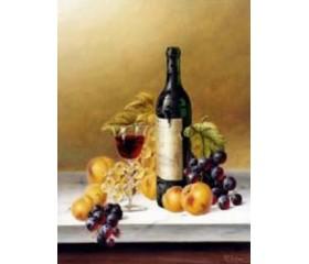 Картина-раскраска по номерам «Вино и фрукты»