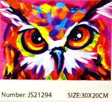 """Алмазная мозаика 20x30 """"Цветной филин"""""""