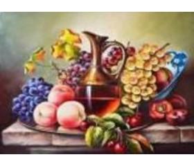 Алмазная мозайка «Натюрморт с фруктами» 30х40