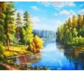 Алмазная мозайка «Родной край» 30х40