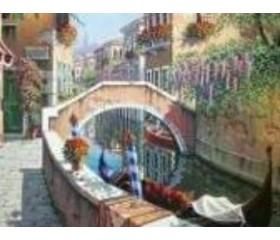 Алмазная мозайка «Мостик в венеции» 30х40