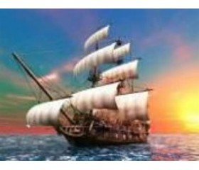 Алмазная мозайка «На всех парусах» 30х40
