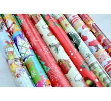 Набор новогодней бумаги 100*70  8шт