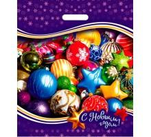 Пакет полиэтиленовый «Новогодние игрушки» ПВД 40*47/45 мкр