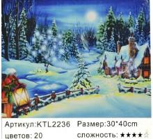 "Картина по номерам 30x40 ""Ночь перед Рождеством"""