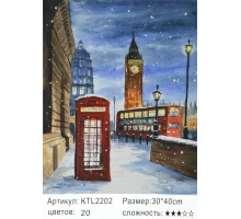 """Картина по номерам 30x40 """"Ночной Лондон"""""""