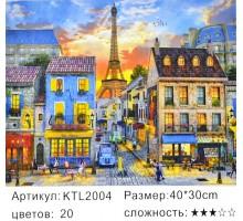 """Картина по номерам 30x40 """"Вечерний Париж"""""""