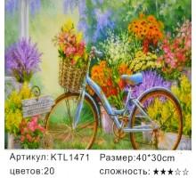 """Картина по номерам 30x40 """"Велосипед"""""""